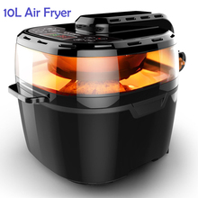 10L Commercial Air Fryer Smokeless Fryer Multi-Functional Oven Oil Fryer Roast chicken Pizza French fries Machine Kitchen Tools