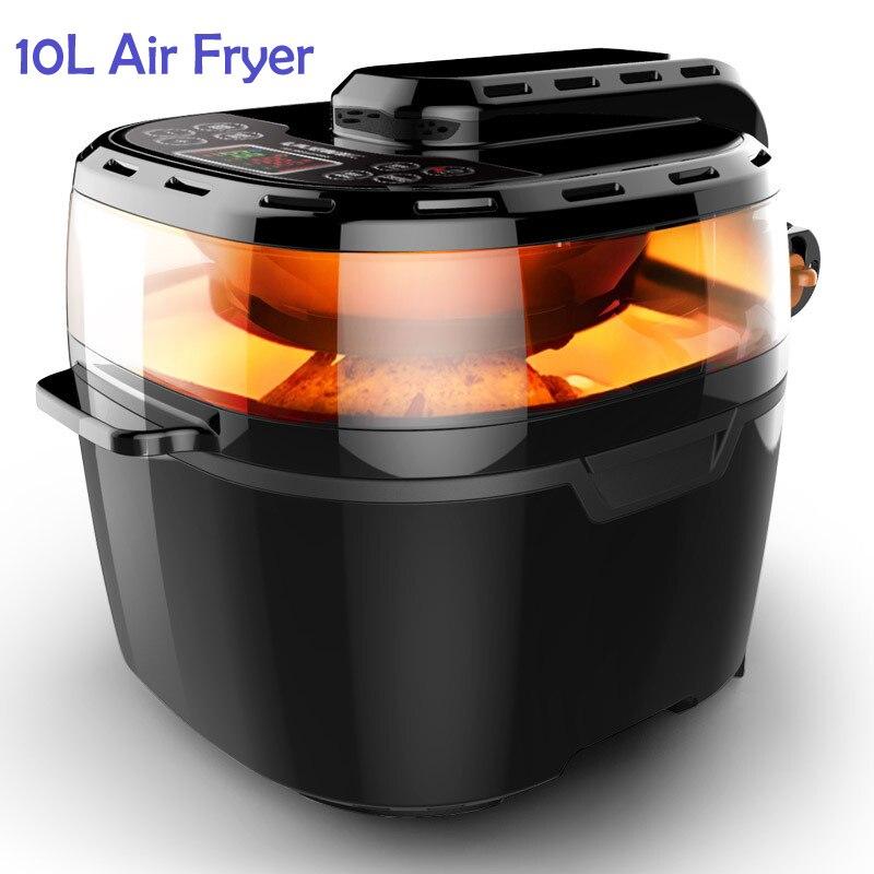 Friteuse à Air Commercial 10L friteuse sans fumée friteuse multifonctionnelle à huile de four rôti poulet Pizza frites Machine outils de cuisine