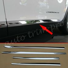 цена на Chrome Car Door Body Side Molding Protect Cover Trim Fit For Jeep Cherokee KL 2014 2015 2016 2017 2018 2019 Accessories
