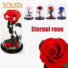 Новая красивая Роза 23 см большой цветок искусство на День святого Валентина День рождения свадебный подарок домашний декоративный вечный цветок розы