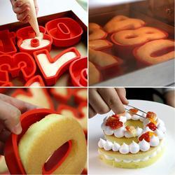 10 pulgadas 25cm * 21cm silicona Digital 0-9 pastel molde números para tarta forma pastel herramienta de decoración para aniversario de bodas