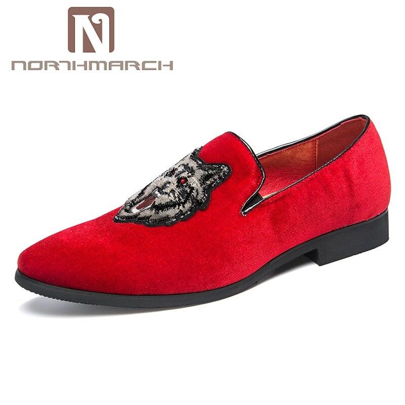 0a7132b63ce Para Casuales Hombre Bordados Negro rojo Deslizantes Mocassini Calzado  otoño Uomo Terciopelo Mocasines De Zapatos Primavera xIqpaBx