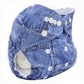 2017 New Fashionable Lavável Reutilizáveis de Pano Fraldas Para Bebés ajustável Fraldas Calças de Treinamento de Fraldas Dos Desenhos Animados Imprimir Couche Lavable