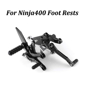 For Kawasaki Ninja 400 2018 Foot Rests Motorcycle CNC Accessories Rear Sets Rearset Footrest Foot Rest Pegs
