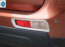 Yimaautotrims Più di Moda! 2 Pz! Chrome Posteriore Nebbia Copertura Della Lampada Della Luce Trim Per Mitsubishi Outlander EX 2013 2014