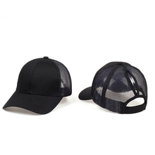 2019 Ponytail Baseball Cap Women Summer Casual Lady Sports Caps Open Mouth Mesh White Black Pink Hat