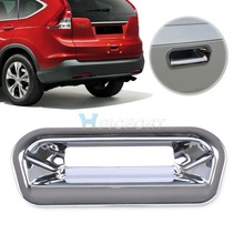 CITALL New Chrome Rear Boot Door Tailgate Handle Cup Bowl Cover Trim Molding Fit for Honda CR-V CRV 2012 2013 2014 Car stylings