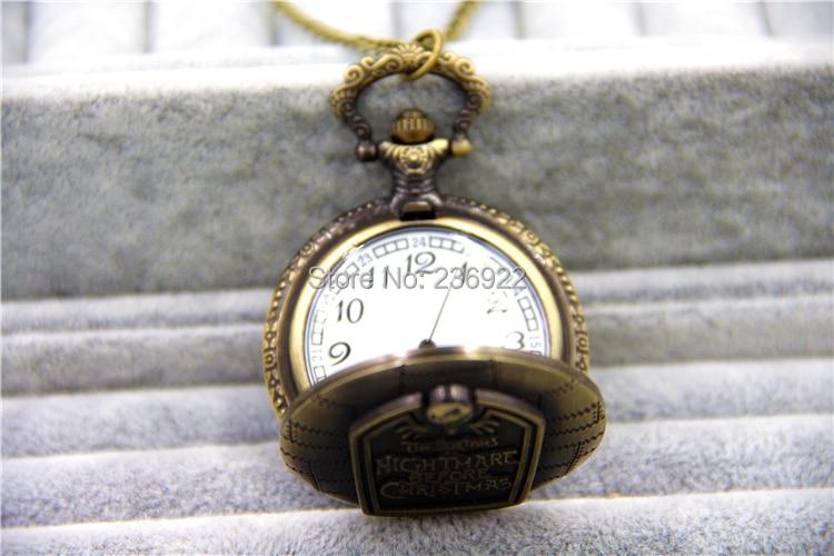 Модные ювелирные изделия Винтаж Шарм кошмар перед рождественские карманные часы ожерелье диаметр 45 мм