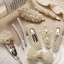 OLOEY Charms Women Ladies Hairgrips Simple Pearls Beades Hairgrip Clip Female Fashion Hair Jewelry Accessories Gifts For Girls