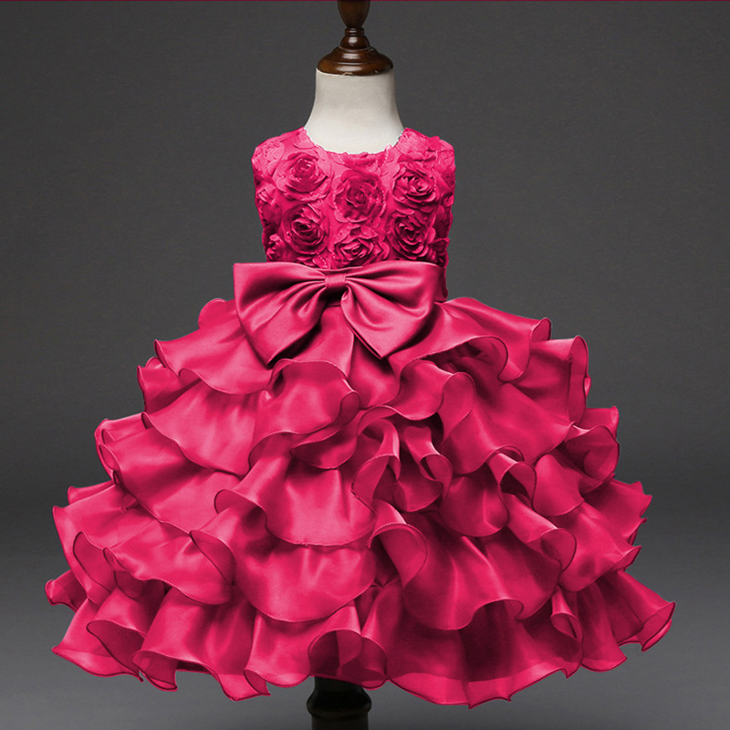 Party Girls Dress Wedding Tutu Dresses For Girls Infant Flower Chiffon Children Clothing Girls Birthday Costume Kids Clothes high quality vestidos children clothing new girls red wedding dress summer party dresses for kids costume flower chiffon clothes