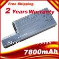 9 células 7800 mAh Lapto for Dell Dell Latitude D820 D830 M65 DF192 CF623 D531 D531N 312-0393 M4300 envío gratis