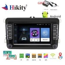 Hikity мультимедиа для Android плеер gps навигация Радио стерео WI-FI DAB с диагностическим разъемом и цифровым видеорегистратором Авторадио Поддержка Canbus/Камера 1G + 16G аудио