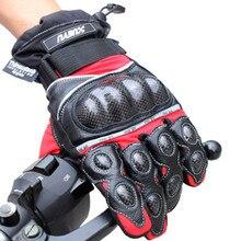 Водонепроницаемый Теплые Перчатки Мотоцикла Натуральная Кожа и Углеродного Волокна Мотокросс внедорожные Защитные перчатки На Открытом Воздухе Мотогонщиков Перчатки
