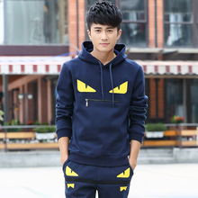 Spring and Autumn Large Size Sweater Set Teen Turtleneck Mens Cute Little Clothes Print Korean Hoodie Casual Sportswear