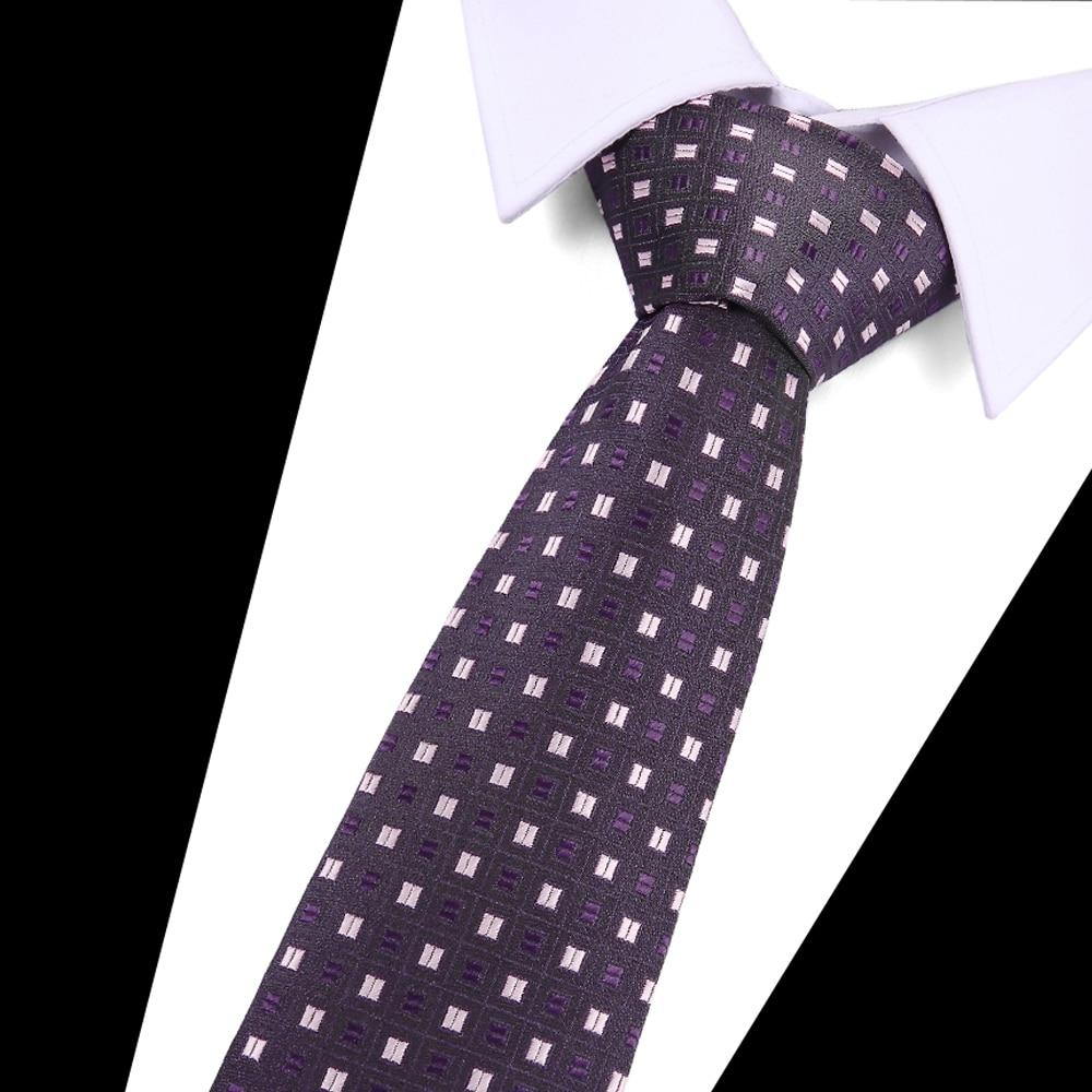 Men's 7.5cm Fashion White Black Ties Pink Plaid Tie Gold Necktie Red Wedding Neck Tie For Men Formal Business Suit Accesory