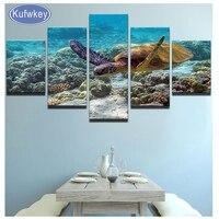 5 Panel Set Deep Sea Turtles Diamond Embroidery Full 5d Diy Diamond Painting Turtle Wall Picture