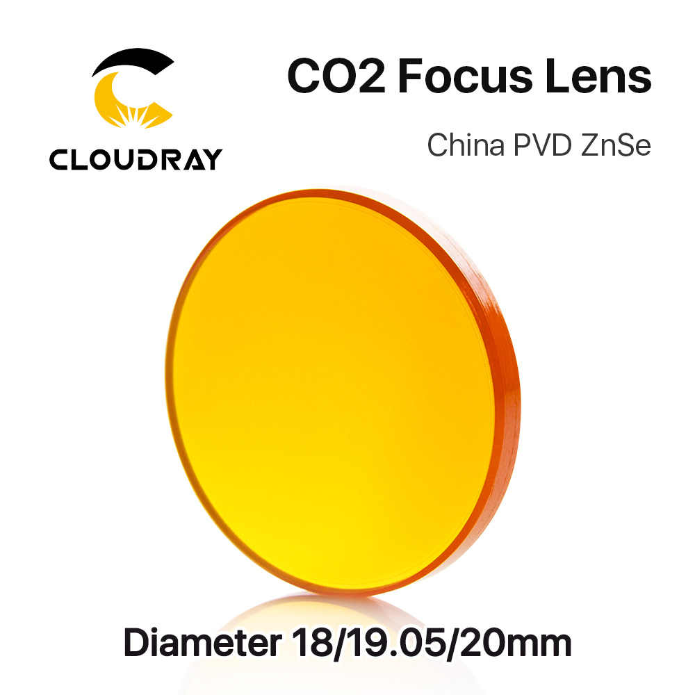 "Cloudray China CO2 Znse Fokus Lensa Dia.18 19.05 20 Mm FL38.1 50.8 63.5 101.6 127 Mm 1.5 - 4 ""untuk Laser Engraving Mesin Pemotong"