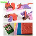 HAPPYXUAN High Quality DIY 3D Animal Puzzle 3mm Eva Foam Craft  Early Learning Creative Educational Toys Kids 3-6 years Old