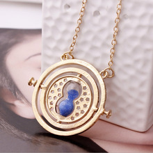 Harry Potter 360 degree time converter hourglass necklace Horcrux Time-Turner Turner Necklace