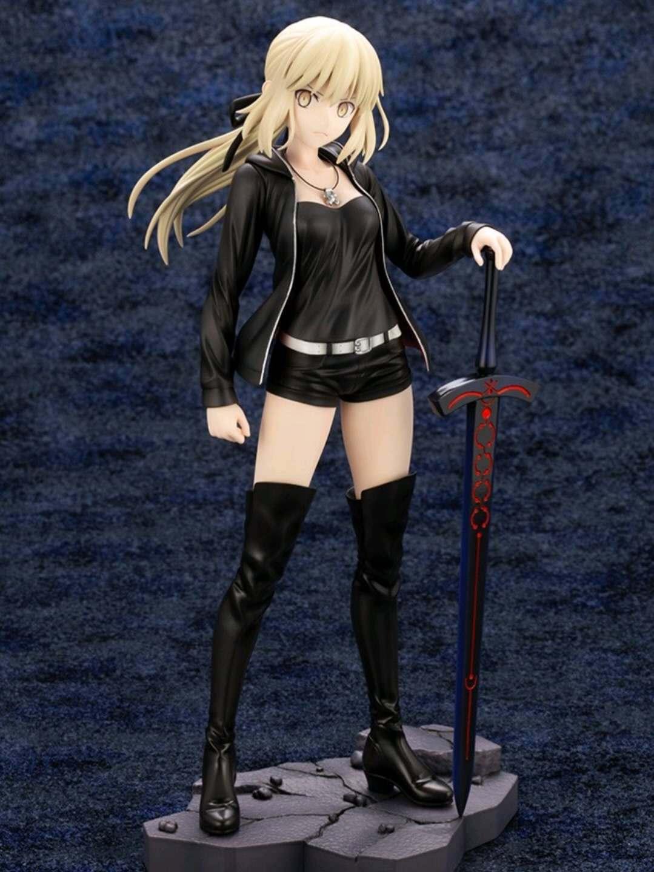Arutoria Pendoragon Fate//Grand Order Black Saber Maid 24cm PVC Figure New Loose