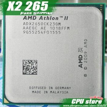 Processeur dunité centrale AMD Athlon II X2 265 (3.3 Ghz/2 M/2000 GHz) Socket am3 am2 + livraison gratuite 938 broches, il y a, vendre X2 260 CPU