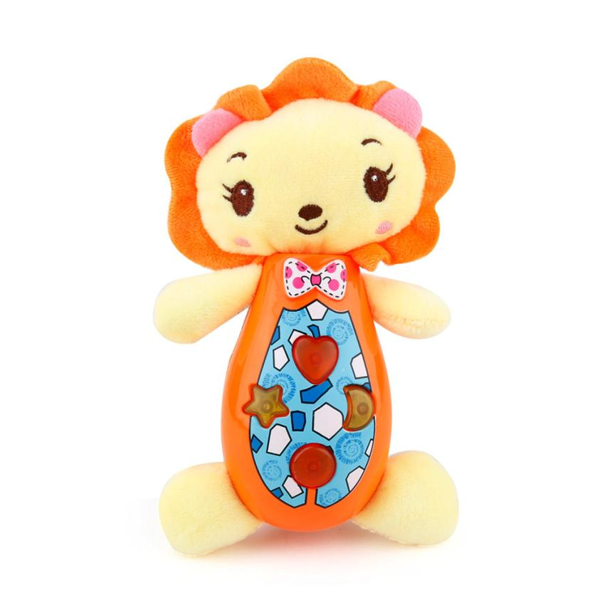 2017 Cute Animal Shapes Music Sound Baby Sleeping Somfort Toys Calm Doll D40