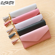 Long Wallet Women Purses Tassel Fashion Coin Purse Card Holder Female High Quality Clutch Money Bag PU Leather Wallet  116 new fashion women wallet crocodile pattern high quality purse for female coin purses money card holders ladies buckle purses y3