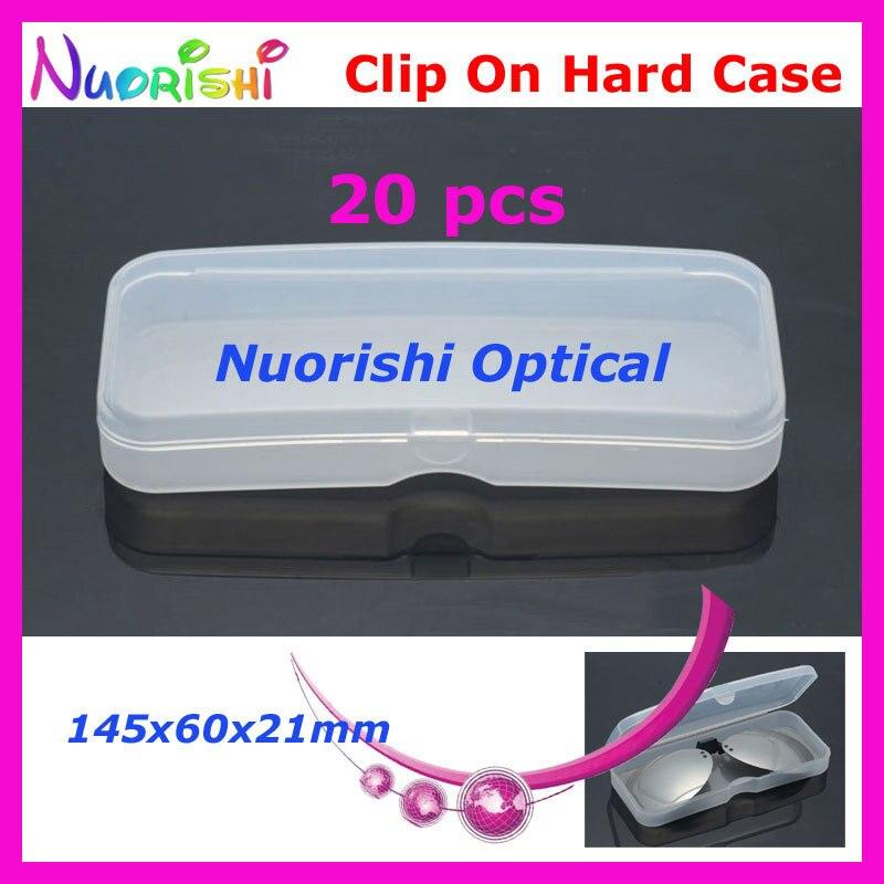 10/20 штук Очки Солнцезащитные очки для женщин очков Поляризованные клип на Пластик Футляр 145x60x21 мм cpcl - Цвет: 20 pcs