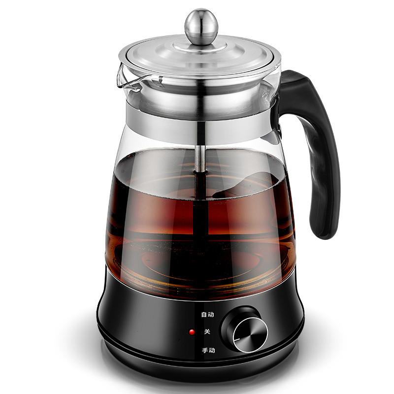 tea maker black pu 'er Glass electric kettle steam teapot automatic - type set high quality black tea flavor pu er waxy fragrant ripe tea slimming pu er green food 2016 new chinese mini yunnan puerh tea