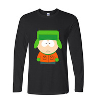 2017 Hipster Basic Tops Funny South park cartman cartoon funny Long TShirts long sleeve T Shirt men