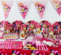 78pcs Minnie Mouse Baby Birthday Party Decorations Kids Evnent Party Supplies Party Decoration CK-510