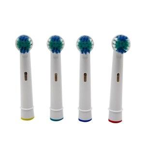 4 قطعة الكهربائية قطعة غيار رؤوس فراشي الأسنان ل Oral B الأسنان نظيفة