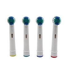 4 Uds cabezales de cepillo de dientes eléctrico reemplazo para Braun Oral B Limpieza de dientes