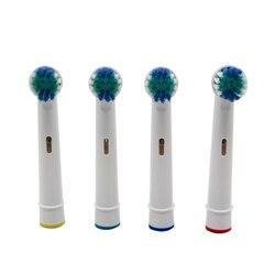 4PCS Elektrische zahnbürste Heads Ersatz für Braun Oral B Zähne Sauber