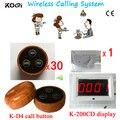 Sistema de Certificação CE 433 mhz chamada Garçom Sistema de Chamada Sem Fio Restaurante Café