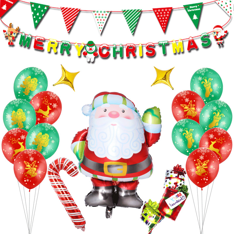 Christmas 2019 Santa Claus balloon set holiday atmosphere decorate party decorations aluminum balloons