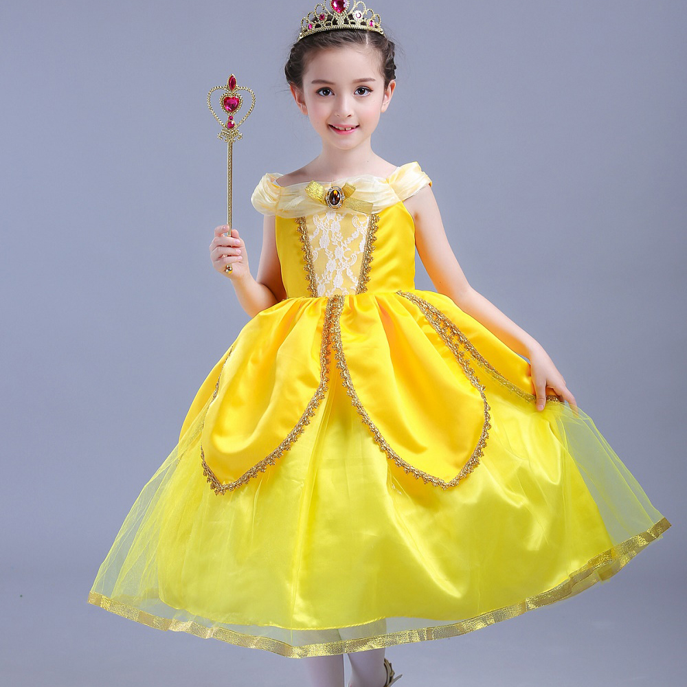 Dresses Kids' Clothing, Shoes & Accs Children Girls Beauty And The Beast Kids Princess Belle Dress Up Set B1