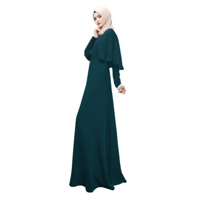 305d44aace3 Elegant Women Cloak Kaftan Abaya Islamic Jilbab Muslim Dress Long Sleeve  Cocktail Maxi Dresses