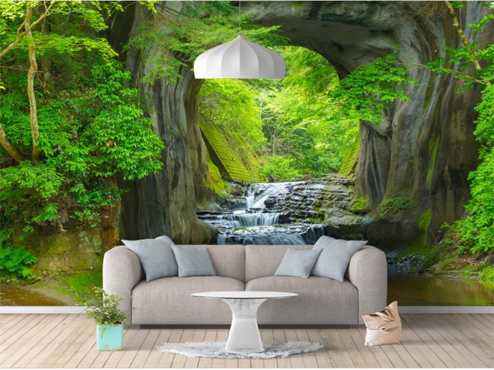 3d Wallpaper Custom Photo Wallpaper Waterfall Oil Painting Picture Living Room Sofa Tv Background Mural Wall Paper For Walls 3d Home Improvement Wallpapers