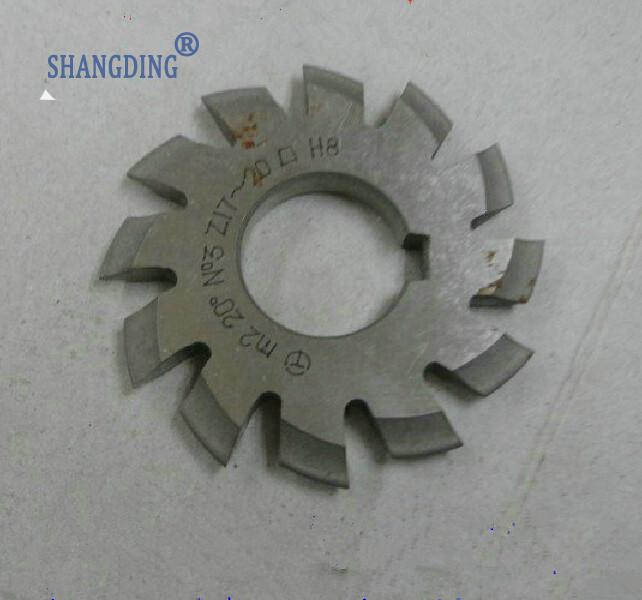 Conical gear milling cutter module M2 NO1--NO8 Angle 20 8PCS A set set of driven cambered angle gear