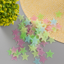 Fluorescent stars stickers new decoration 3cm luminous stereo wall