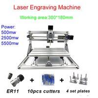 Disassembled 3018 PRO laser engraving machine cnc milling machine can add laser head 500mw/2500mw/5500mw cnc drilling machine