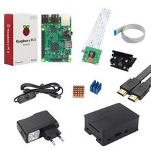 Raspberry Pi 3 Камера комплект Raspberry Pi 3 + 5 Мп Камера + держатель + Питание + кабель USB + ABS кабель + теплоотвод + HDMI кабель