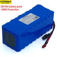Liitokala 36v 8AH 10S4P electric bicycle car battery scooter high capacity lithium battery