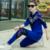 Chándal para las mujeres 2017 de la moda de primavera traje femenino engrosamiento paillette Lentejuelas Bordado ocasional 2 unidades set