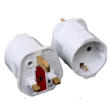 Multifunctionele Eu Naar Uk Stekkers Adapter Eu Naar Uk Stekkers Power Converter Stekkers 2 Pin Socket Eu Naar Uk Reizen adapter