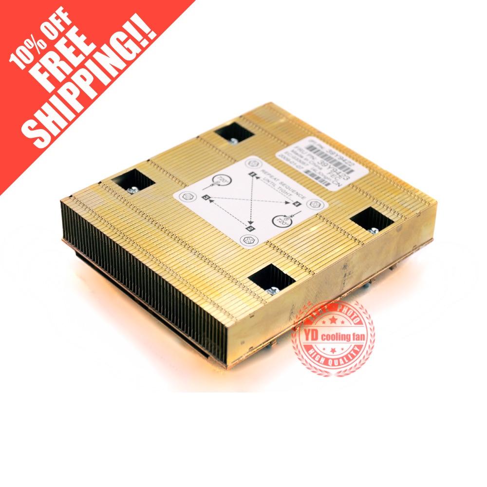 FOR IBM X3550 server CPU copper heatsink 39Y9422 39Y9423 5pcs lot pure copper broken groove memory mos radiator fin raspberry pi chip notebook radiator 14 14 4 0mm copper heatsink