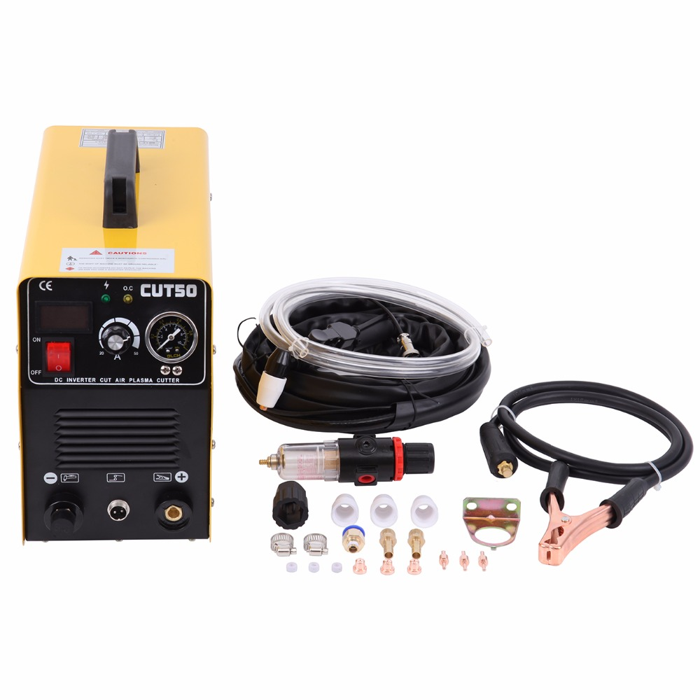 (Ship from Germany) DC Inverter plasma Cutting Machine Arc CUT50 220V 50A with Pressure Gauge Welding Accessories 2014 sale real freeshipping welding plasma cutting machine inverter plasma cutter for welder cut50 cut 12mm thickness