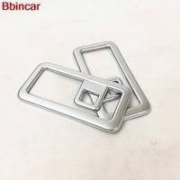 Bbincar ABS Chrome Matt Rear Tail Box Trunk Boot Hook Pothook Cap Sticker Trim 2PCS For