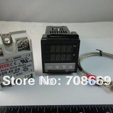 Цифровой PID регулятор температуры REX-C100FK02-V* AN+ max.40A SSR+ K термопары